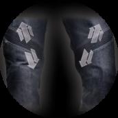 Elastic panels (knees) - GRAVITY