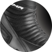 PERFORATED LEATHER - RSX-6 BLACK